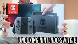 NINTENDO SWITCH - UNBOXING do Novo Console + Jogos + Pro Controller!