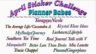 Plan With Me | NO STICKERS | April Sticker Challenge WEEK FOUR