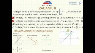[Zadanie 8] Matura z matematyki poziom podstawowy. Maj 2018.