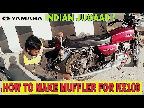 YAMAHA RX100 MUFFLER JUGAAD.  How to reduce the exhaust noise without muffler.