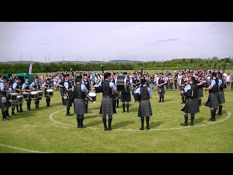 BEINN AN TUIRC KINTYRE PIPE BAND AT THE BRITISH PIPE BAND CHAMPIONSHIPS