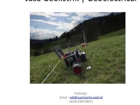 Jasa Geolistrik | Geo Electric Kabupaten Bombana-Rumbia Sulawesi Tenggara