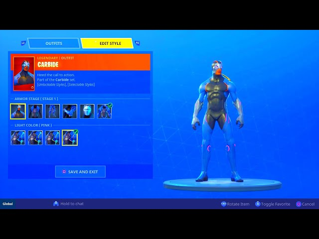 HOW TO CHANGE SKIN COLOR OF MAX OMEGA AND CARBIDE SKIN! COLOR CUSTOMIZATION FORTNITE BATTLE ROYALE