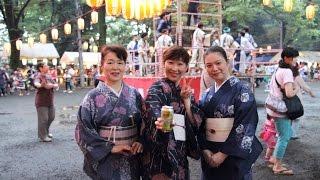 2014年07月05日 大國魂神社の境内にて行われた盆踊り。踊りは「ビューテ...