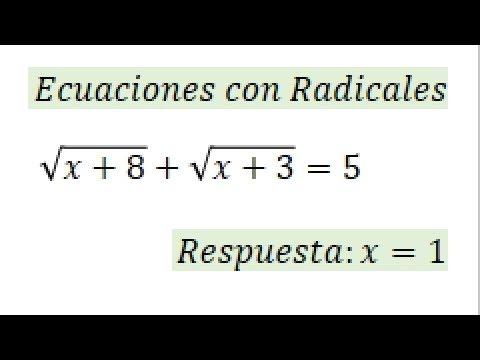 Ecuaciones Radicales Con 2 Raices Youtube