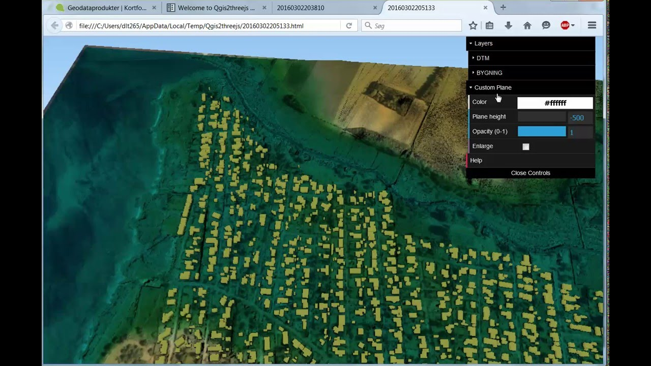From DTM to 3D using QGIS