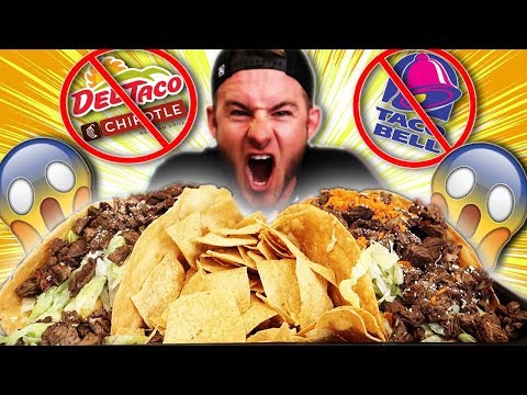 THE WORLDS BIGGEST TACO CHALLENGE! (10,000+ CALORIES)