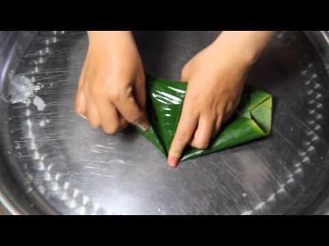 Cách gói bánh ít Miền tây