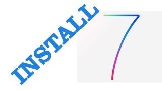 iOS 7 Installation Process on iPhone 5