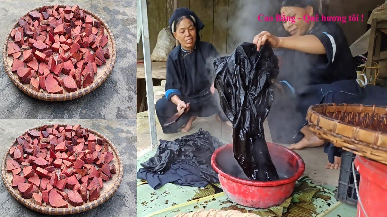 T2.Nghề Đặc Biệt Truyền Thống Của Người Nùng An Ở Quảng Hòa Cao Bằng. Nghề nhuộm vải chàm ở Cao Bằng