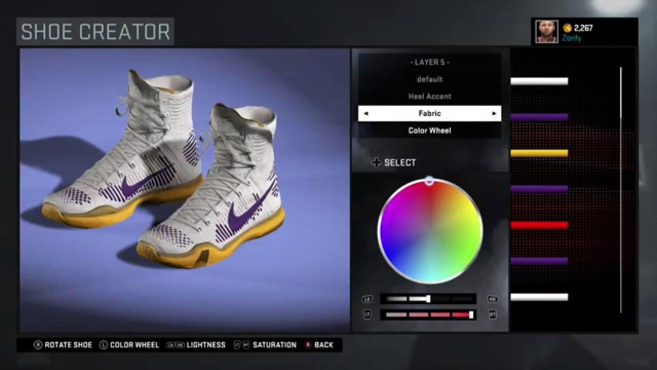 caf62a5be111 ... promo code for nba 2k16 shoe creator nike kobe 10 elite custom los  angeles lakers 7faf2