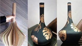 How to make vase - DIY Vase - DIY Cardboard Vase