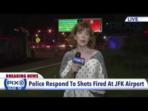 Police respond to reports of shots fired at JFK Airport ( News  9:30 p.m)