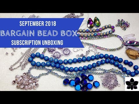 Bargain Bead Box Subscription Unboxing | September 2018 | Beaded Jewelry Making