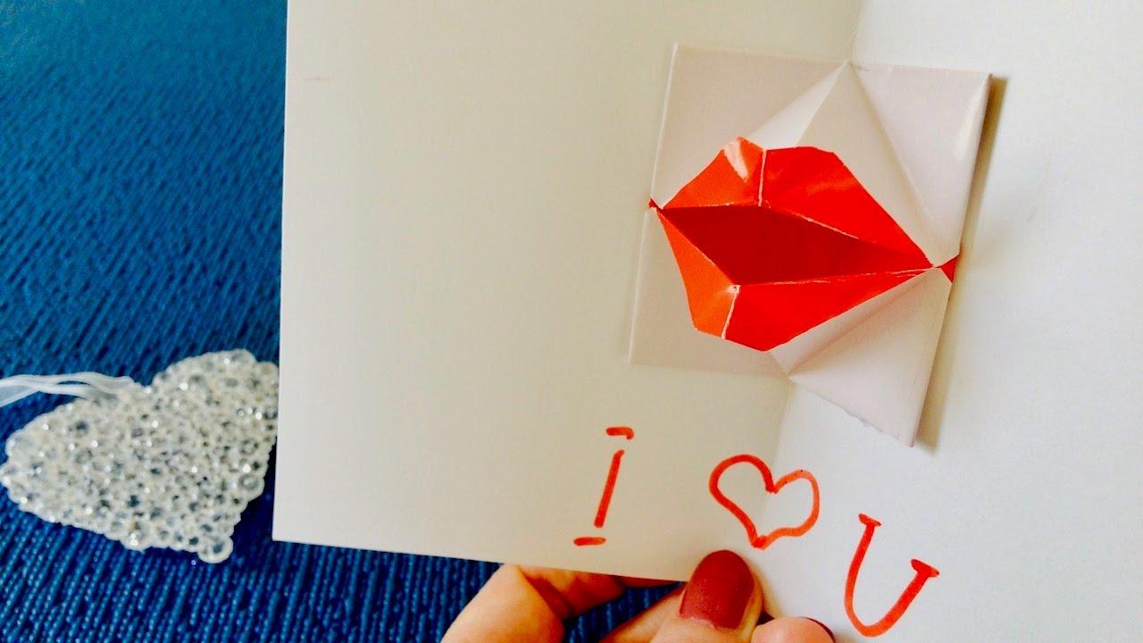Открытка оригами для любимого