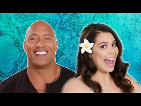 "Thumbnail: The Rock Takes The ""Which Disney Princess Are You?"" Quiz With The Cast Of Moana"