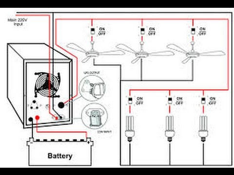 hqdefault ups connection youtube inverter wiring diagram for house at aneh.co