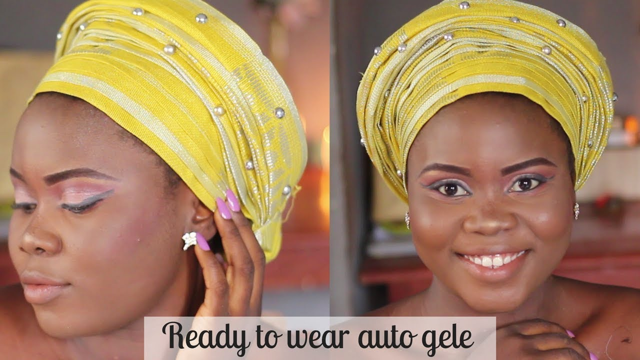 70edb598fe28 HOW TO TIE READY TO WEAR AUTO GELE | Gele series by Damie Alabi ...
