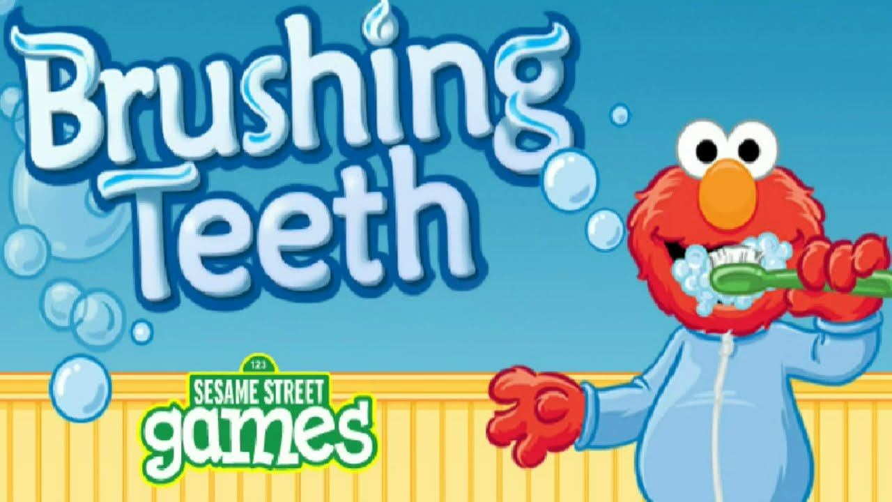 Sesame Street Elmo Brushing Teeth Kids Game Children Hygiene Education Youtube