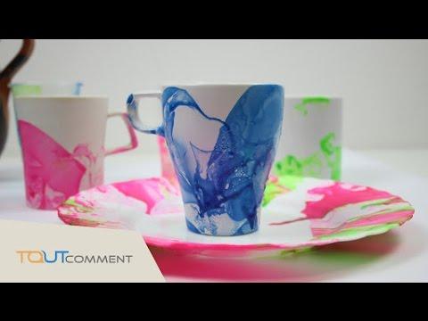 D corer des verres ou une tasse avec du vernis ongles - Peindre sur du vernis ...