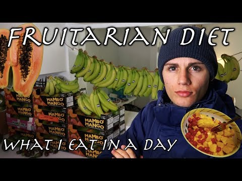 WHAT I EAT IN A DAY FRUITARIAN DIET! (High Carb Vegan) + fruit haul