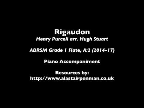 Rigaudon by Henry Purcell. Piano Accompaniment