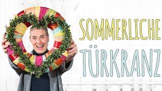 SOMMERLICHER TÜRKRANZ - DIY