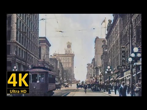1925 Canada - Old video in color from 1900