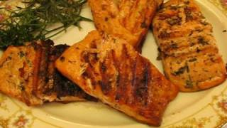Betty's Grilled Salmon Steaks With Herb Butter