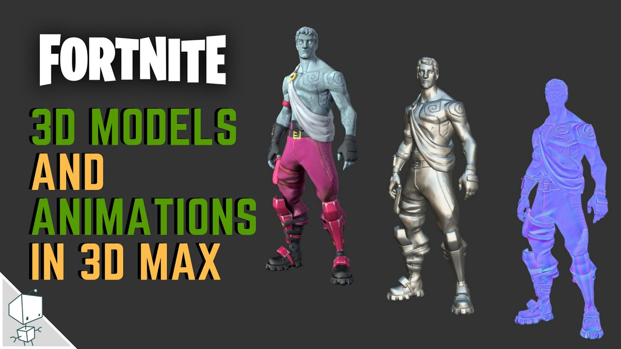 #3 How to Import Fortnite 3d models and animations on 3d max