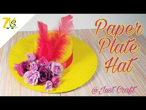 DIY Paper Plate Hat | Hat from waste materials | Hat made from paper | Just Craft | msjustcraft