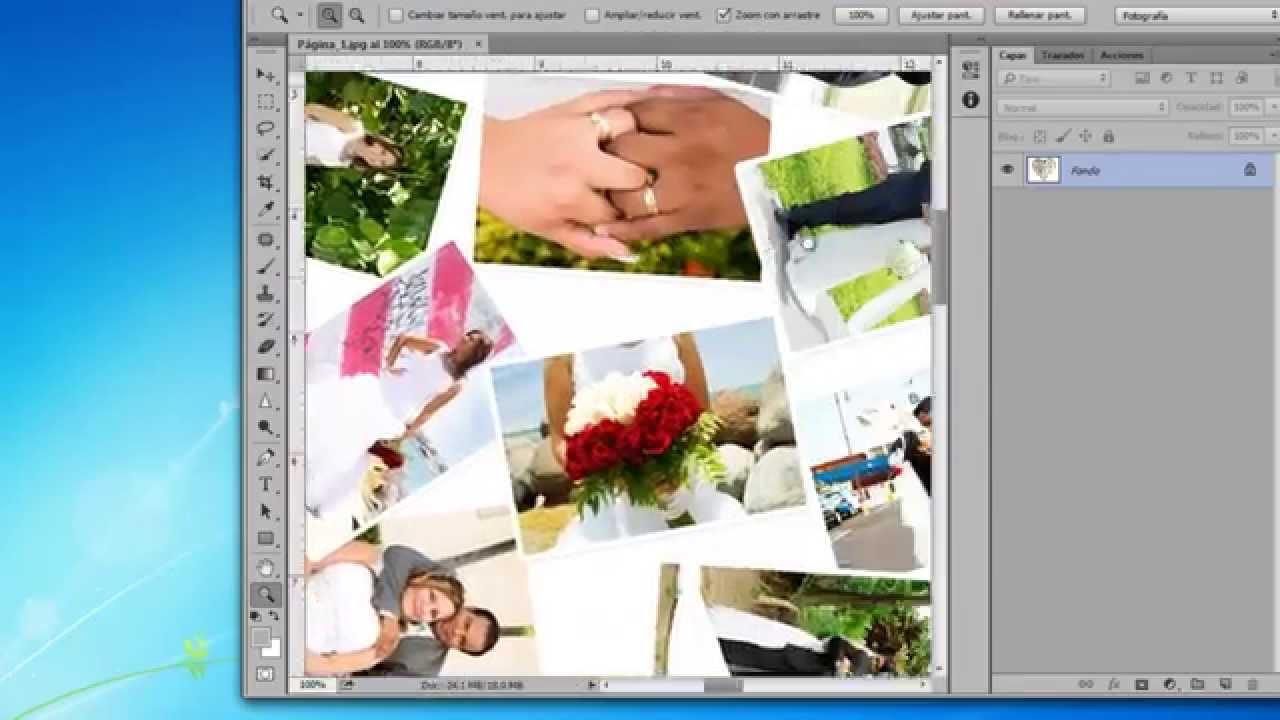 Collage de coraz n en photoshop youtube - Como hacer un collage de fotos a mano ...