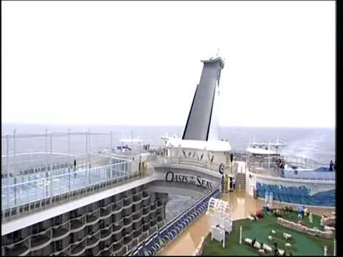BBC News The world's biggest cruise ship the Oasis of the Seas Royal Caribbean