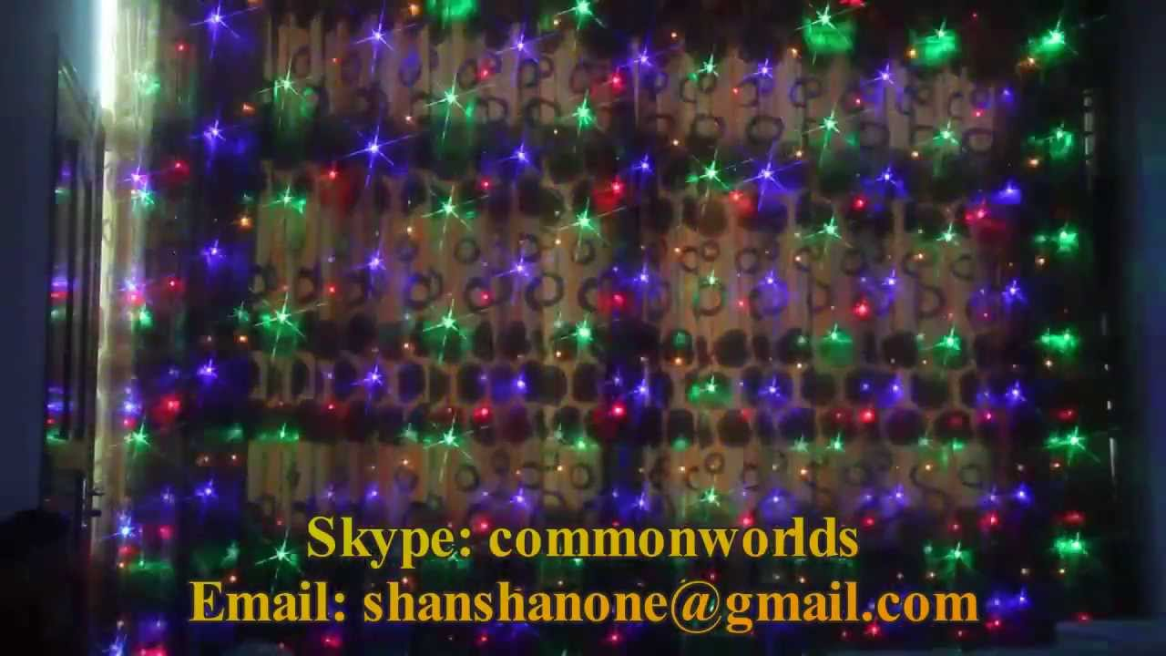 led fairy christmas curtain digital waterfall lights - Waterfall Christmas Lights