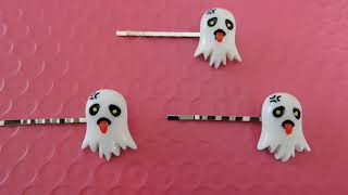 Halloween hair pins (from a haul from HappyKawaiiSupplies)