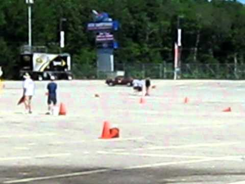 Sam autocrossing an 1984 VW Rabbit diesel at NHMS