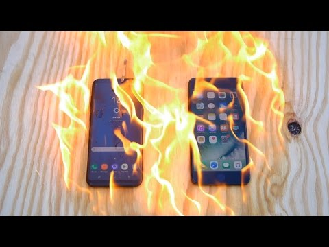Burning Samsung Galaxy S8 Plus vs iPhone 7 Plus - Which Is Stronger?