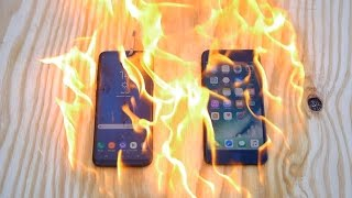 Video Burning Samsung Galaxy S8 Plus vs iPhone 7 Plus - Which Is Stronger? download MP3, 3GP, MP4, WEBM, AVI, FLV Desember 2017