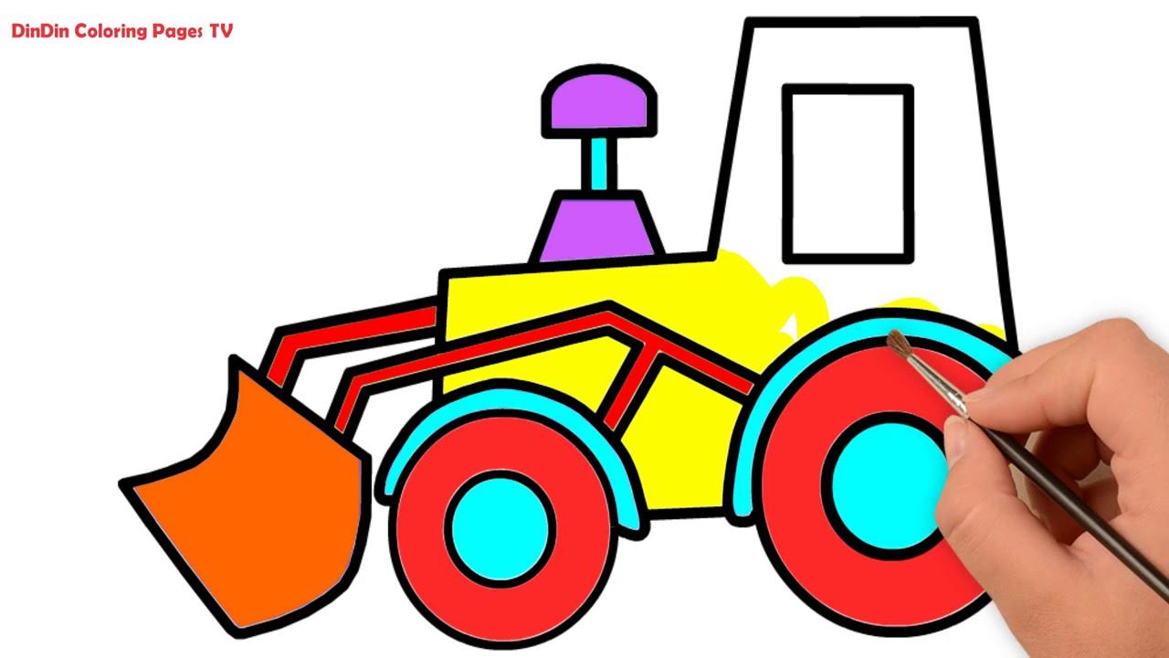 Wie Zeichnet Man Traktor Malvorlagen Fur Kinder Traktor Youtube