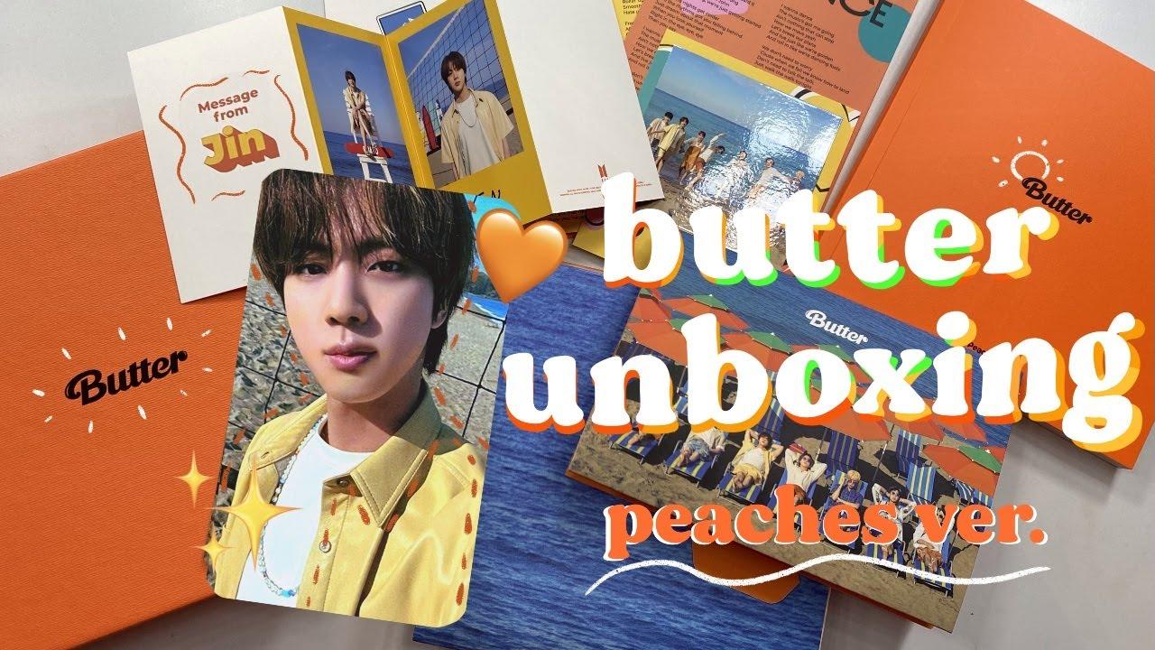 BTS butter album cd: peaches ver. unboxing reaction vlog 🧈🧡