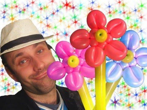 Цветы из шаров шдм