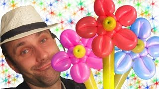 Прикольный цветок из шаров шдм аэродизайн ★ flower from a balloon