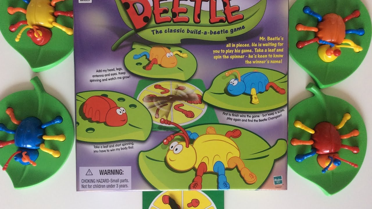 LETS *BUILD A BEETLE* GAME- FAMILY FUN GAME - YouTube