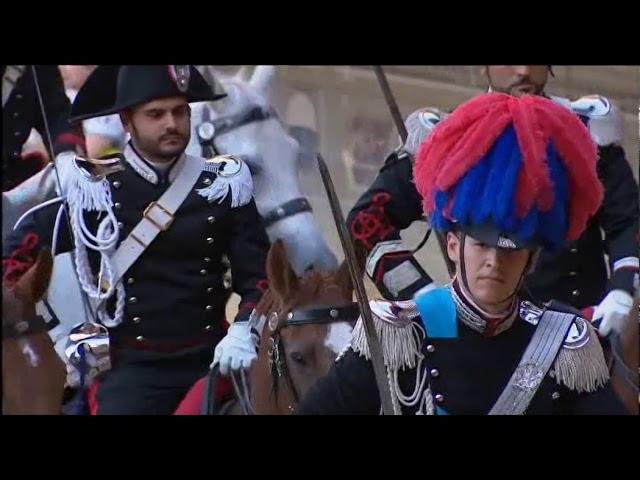Drappello dei carabinieri a cavallo - Palio 2 luglio 2019