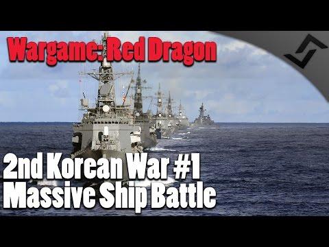 Wargame: Red Dragon - 2nd Korean War #1 - Massive Ship Battle - Campaign Walkthrough
