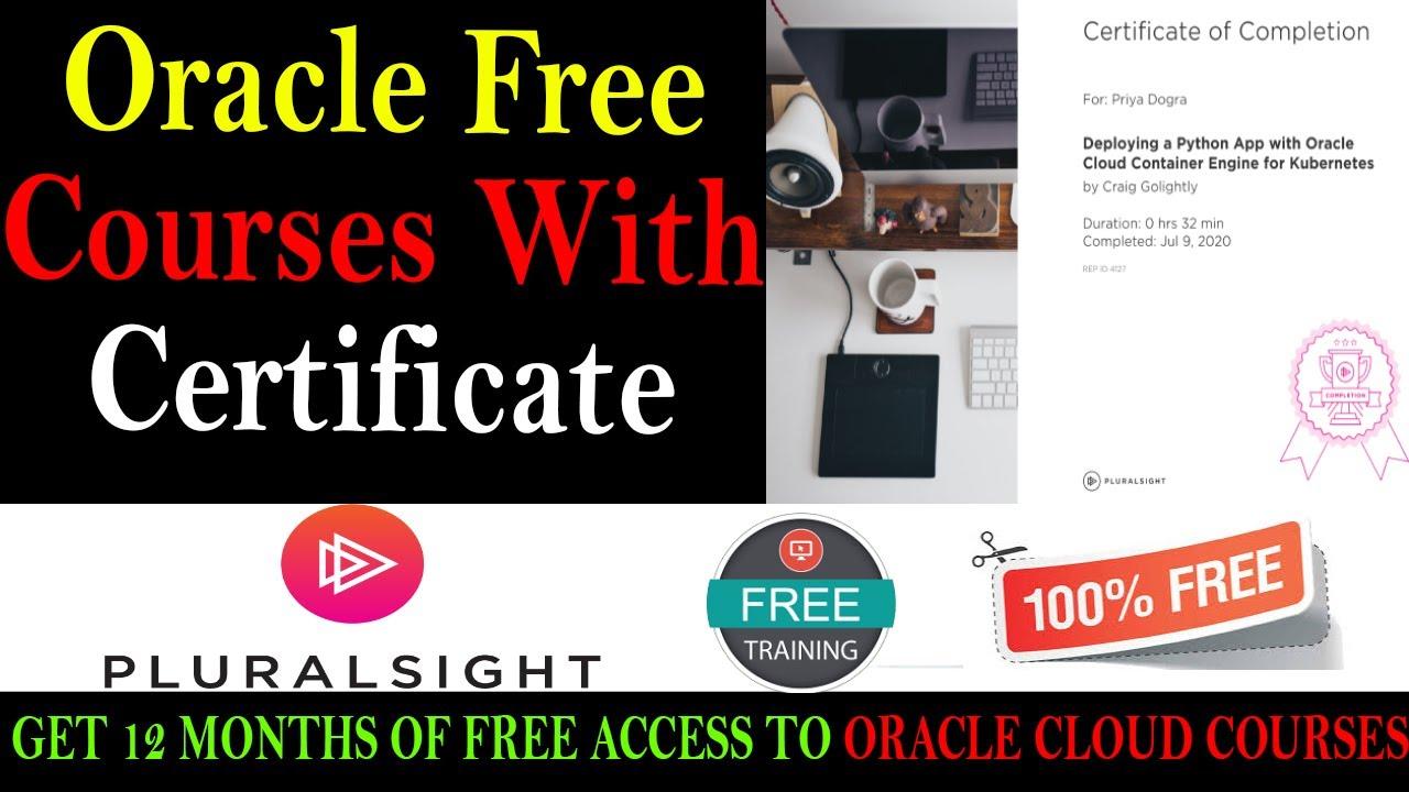 oracle certification courses cloud