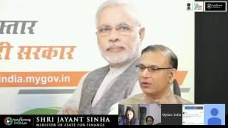MyGov Live Talk with Jayant Sinha on #TransformingIndia