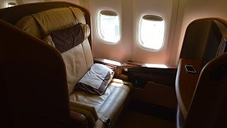 singapore airlines first class b777 300 melbourne to singapore sq238