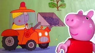 Видео для детей. Мультфильм Свинка Пеппа из игрушек. Маша читает журнал Peppa Pig Пеппе в школе