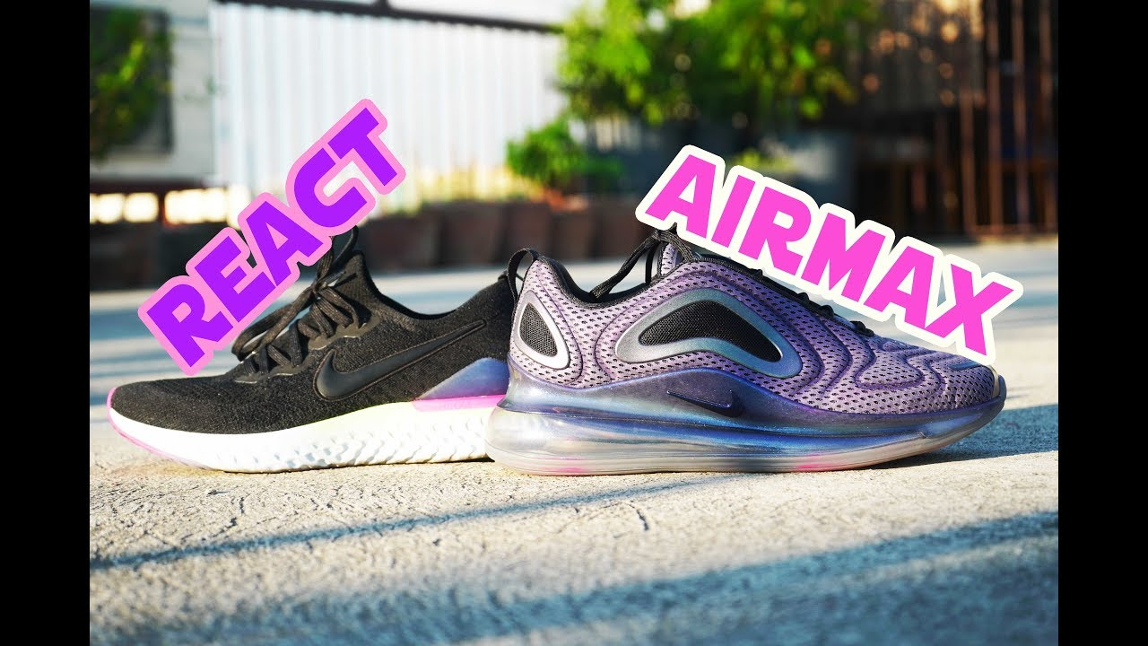 Nike EPIC REACT 2 VS AIRMAX 720 BEST NIKE CUSHIONING SYSTEM